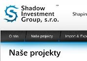 Náhled Shadow Investment Group, s.r.o. - logo a prezentační stránky