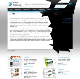 Shadow Investment Group, s.r.o. - logo a prezentační stránky